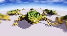 Free Ecological Abstract With Frogs Stock Photography - 7908462