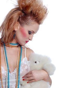 Free Girl With Teddy Stock Photos - 7908463