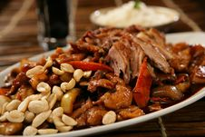 Free Spicy Pork Roast With Peanuts Royalty Free Stock Photos - 7908708