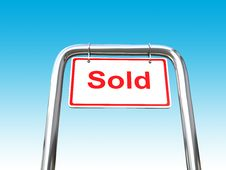 Free A Sold Sign Different Angle Stock Images - 7908734