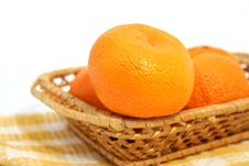 Free Mandarins In A Basket Stock Photos - 7908793