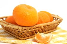 Free Mandarins In A Basket Stock Photo - 7908810
