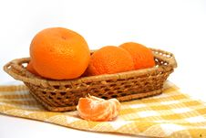 Free Mandarins In A Basket Stock Photography - 7908902
