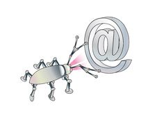 Free A Spy Virus Breaks Up E-mail. Conception Stock Image - 7909031