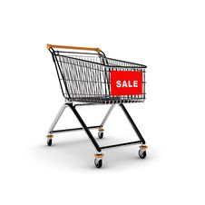 Free Shopping Cart Royalty Free Stock Photography - 7909557