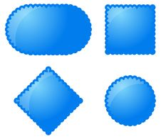 Free Blue Vector Buttons Stock Images - 7909714
