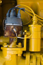 Free Yellow Coil And Rusty Distributor Stock Image - 7912631
