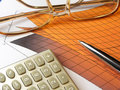 Free Pen, Spectacles And Calculator Royalty Free Stock Image - 7918166