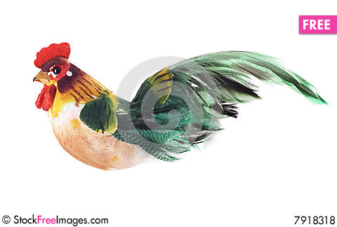 Decorative cock Stock Photo