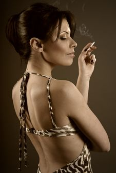 Free Girl Smoking Royalty Free Stock Image - 7910416