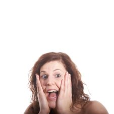 Free Young Woman Shocked Stock Photo - 7910770