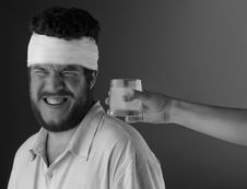 Free Man With Head Bandage Stock Photo - 7911410