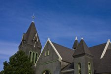 Free Gray Church On Blue Sky Stock Image - 7911511