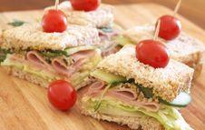 Tasty Club Sandwich On Wholewheat Bread Stock Photo