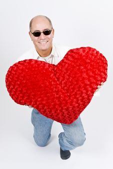 Free Latin Man With A Red Heart Royalty Free Stock Photos - 7911738