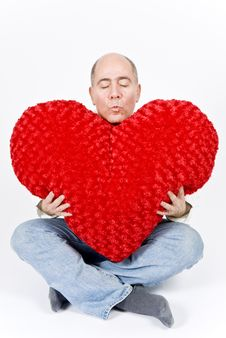 Free Latin Man With A Red Heart Royalty Free Stock Photo - 7911755