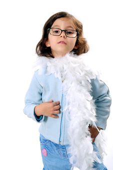 Free Little Fashion Girl Royalty Free Stock Photography - 7912167