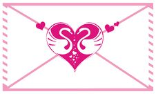 Free Valentine Envelope With Hearts Stock Image - 7912231