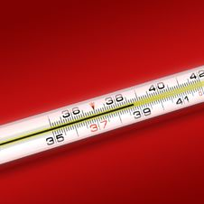 Free Close-up Thermometer On Green Background Royalty Free Stock Photos - 7912298