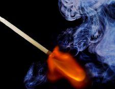 Free Burning Match Stock Images - 7912594