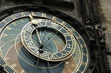 Free Astronomical Clock In Prague Royalty Free Stock Images - 7912599