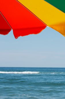 Free Bright Colorful Beach Umbrella Royalty Free Stock Photos - 7912988