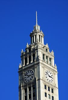 Free Wrigley Building Clock Tower Stock Images - 7913164