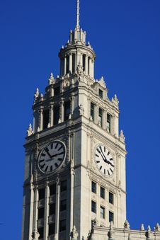 Free Wrigley Building Clock Tower Stock Images - 7913194