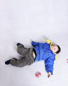 Free Boy Lying On Floor Royalty Free Stock Photography - 7913277