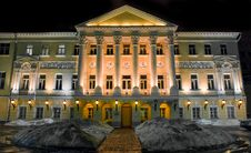 Old Barton House At Night. Moscow. Stock Images