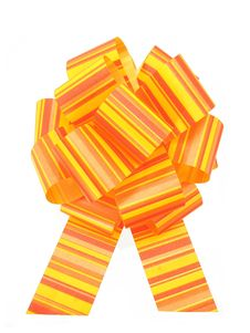 Yellow Red Bow Royalty Free Stock Photo