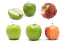 Free Collage From Apples Royalty Free Stock Photo - 7913935