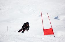 Free Ski Racer Stock Photo - 7914140