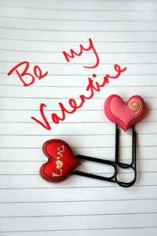 Valentine Message Stock Photography
