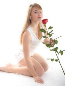 Free Woman With Rose Royalty Free Stock Photo - 7914745
