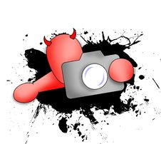 Free Demon With Camera Royalty Free Stock Image - 7914796