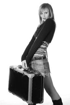 Free Woman With Travelling Bag Stock Photo - 7915030