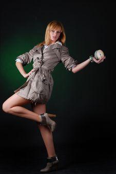 Free Woman With Alarm Clock Stock Photos - 7915073
