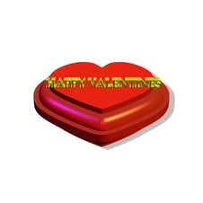Free Valentines Heart  In 3d Royalty Free Stock Images - 7915279