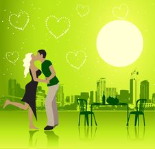 Free Valentine Day, Urban Scene, Couple Royalty Free Stock Image - 7915346