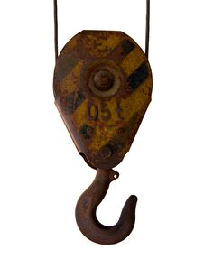 Free Rusty Hook Of The Telpher Royalty Free Stock Photos - 7915648