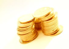 Free Gold Coins Close-up Royalty Free Stock Images - 7915789
