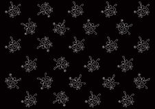 Free Black Background, White Flowers Stock Image - 7916081