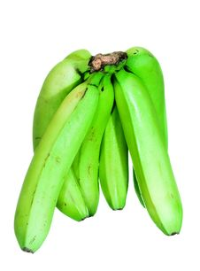 Free Green Bananas Stock Image - 7916341