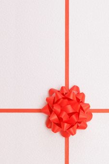 Free Red Ribbon With Te Bow Stock Image - 7916461