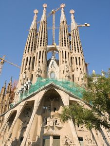 Free Temple Sagrada Familia- In Barcelona Stock Photos - 7916893