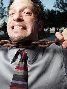 Free Choking Businessman Royalty Free Stock Photo - 7916895