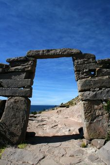 Arch - Titicaca Lake II Royalty Free Stock Image