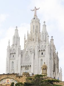 Free Temple At Mountain Tibidabo Top In Barcelona. Stock Photos - 7917153