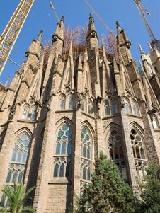 Free Temple Sagrada Familia- In Barcelona Royalty Free Stock Photography - 7917207